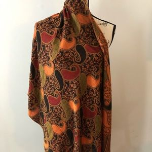 Wrap/scarf beautiful print red,orange and black